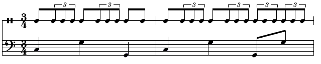 Rythme Boléro de Ravel